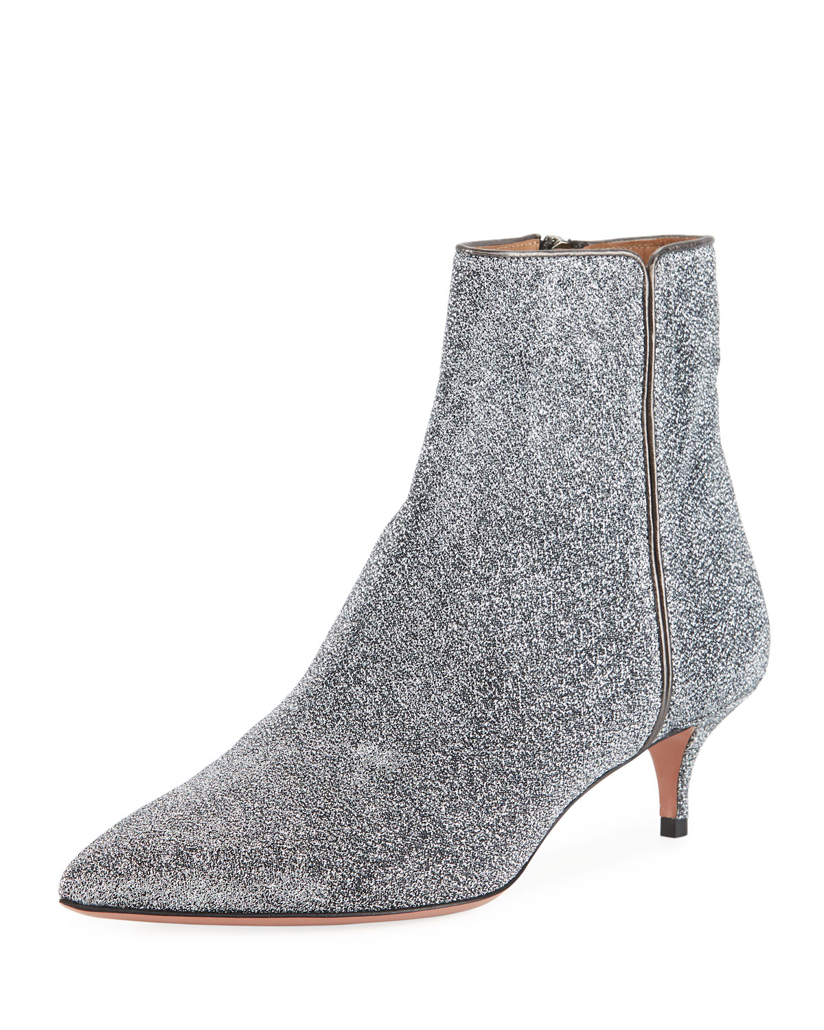 Quant Metallic Stretch-Knit Ankle BootsAquazzura aGyUyp