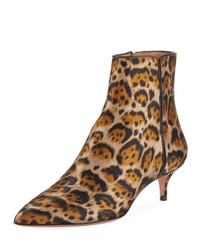 Quant Jacquard Leopard Bootie