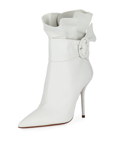 Palace Leather Ruffle Booties