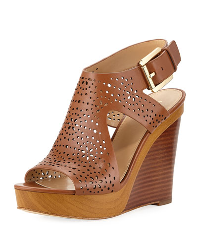 Josephine Perforated Wedge Sandal