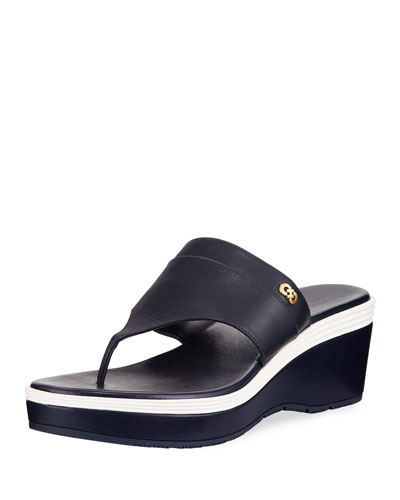 Cecily Grand Colorblock Wedge Thong Sandal