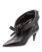 Miu Miu Fold-Down Leather Booties