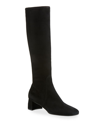 e9348718c13f Quick Look. Prada · Stretch-Suede Knee Boot ...