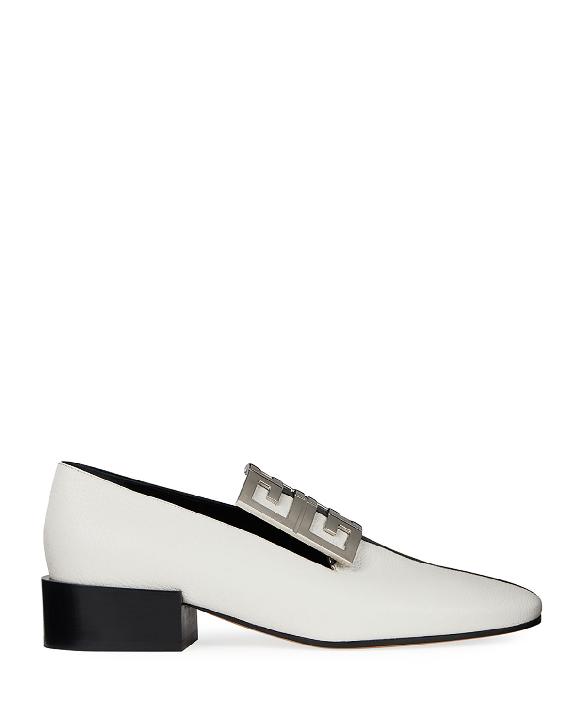 Bicolor Leather High-Vamp Loafer with 4G Logo
