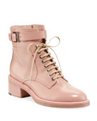 Laurence Dacade Solene Leather Lace-Up Booties