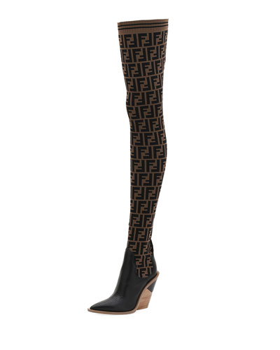 FF Knit Over-The-Knee Boot
