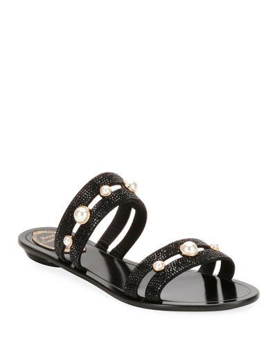 Embellished Double-Band Sandal
