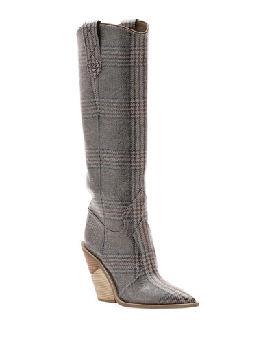d3d83e4a02c Quick Look. Fendi · Tall Glen Plaid Western Boot
