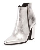 Anthea Metallic Double Zip Bootie