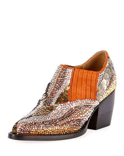 Rylee 90MM Bootie with Strass Detail