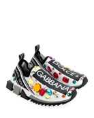 Dolce & Gabbana Slip-On Jeweled Trainer Sneaker