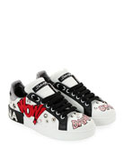 Dolce & Gabbana Wow! Leather Low-Top Sneaker