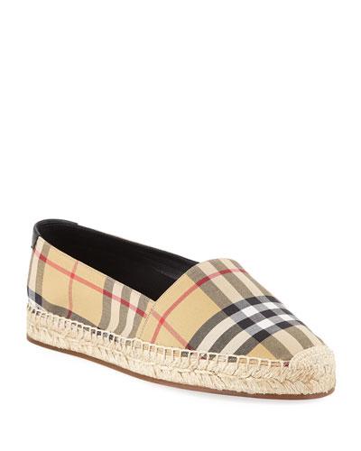 Hodgeson Vintage Check Espadrille Slip-On Flat