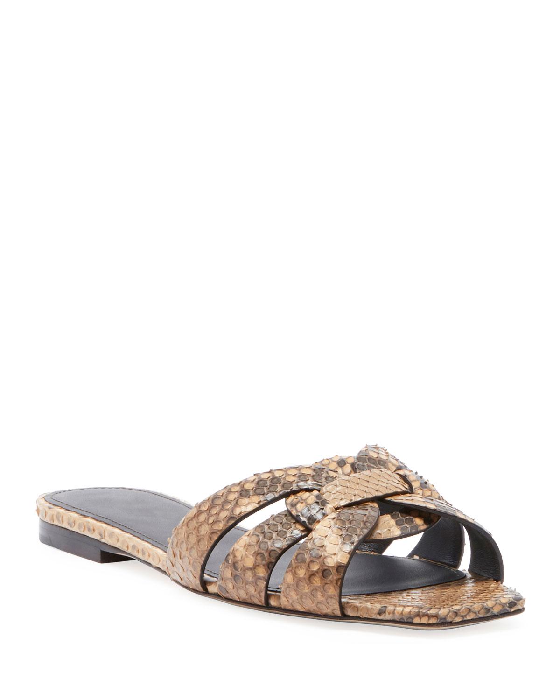 Tribute Flat Python Snake Slide Sandal