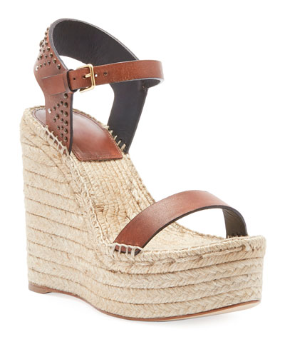 c79462f0ef8c Quick Look. Saint Laurent · Leather Platform Wedge Espadrille Sandal