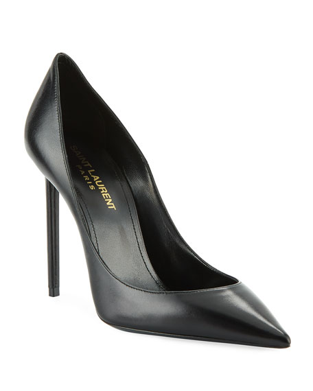 Saint Laurent Zoe Leather Point-Toe Pumps