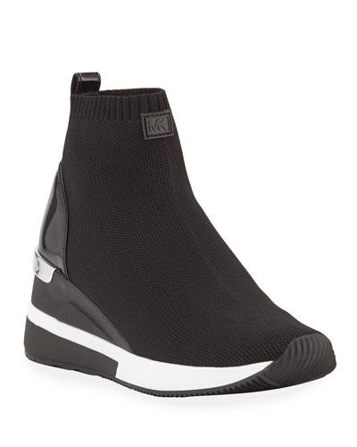 Skyler Stretch-Knit Sneaker Booties