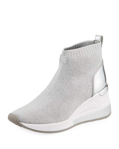 Skyler Knit High-Top Booties Sock Sneaker