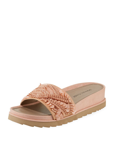 Cava Ornamented Slide Sandals