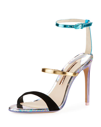 Rosalind Metallic Leather/Suede Sandals