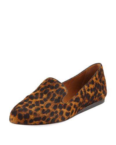 Griffin Leopard-Print Loafer Flat