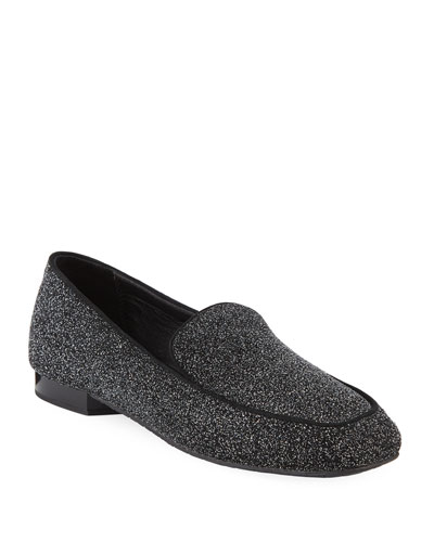 Heddy Glittered Flat Loafers