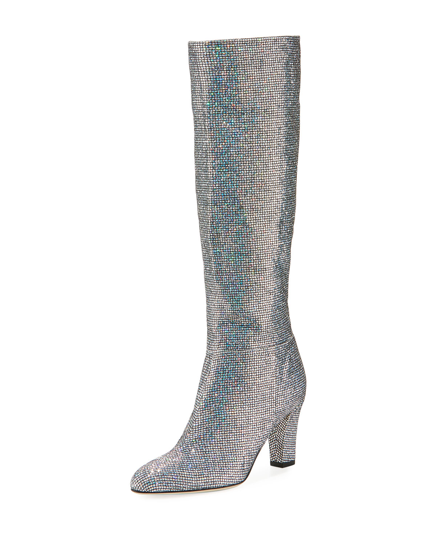 Studio Sparkle Holographic Knee-High Boot