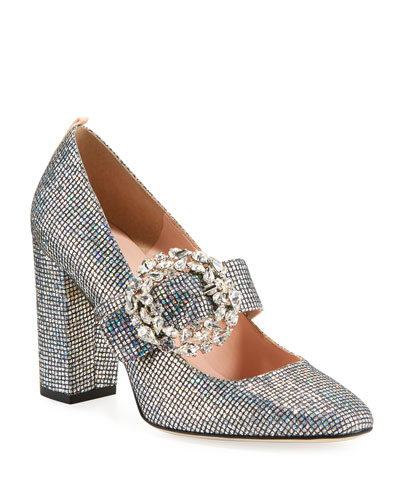 Celine Embellished Sparkle Mary Jane Pump