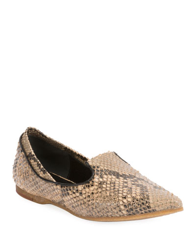 Pointed-Toe Slip-On Loafer Flat