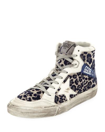 Superstar Leopard-Print High-Top Sneakers