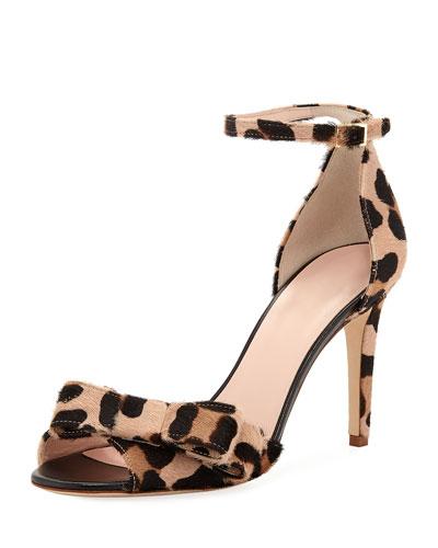 ismay leopard bow pumps