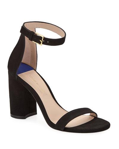 LessNudist 95mm Suede Sandal