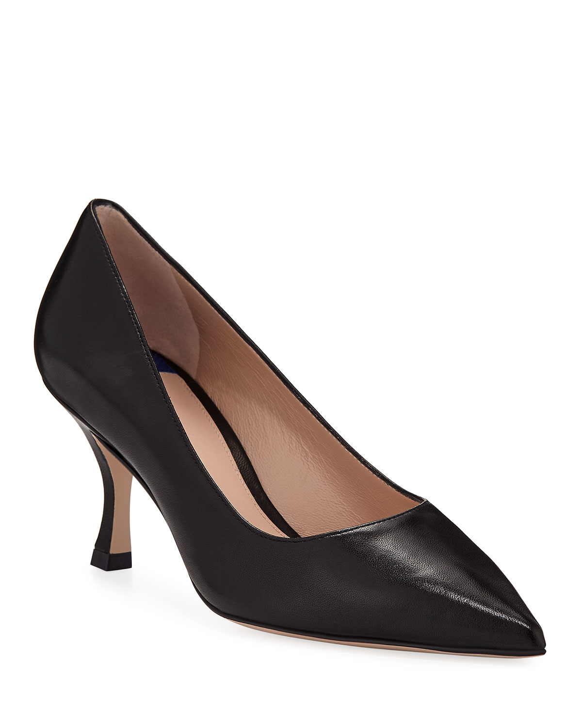 Tippi 70 Pointy Toe Pump, Nero