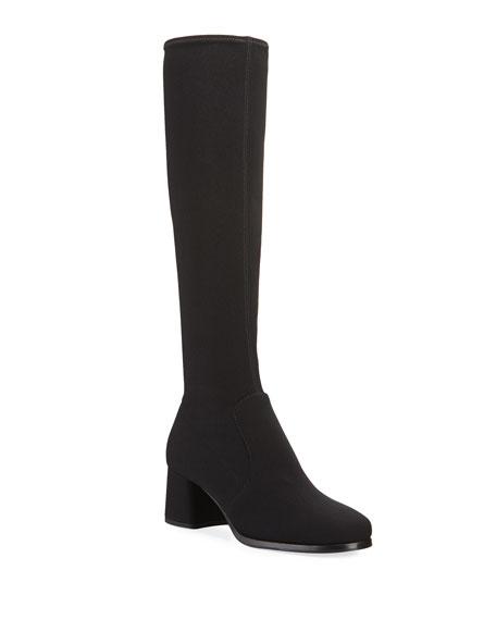 Prada Stretch-Tech Fabric Knee Boots