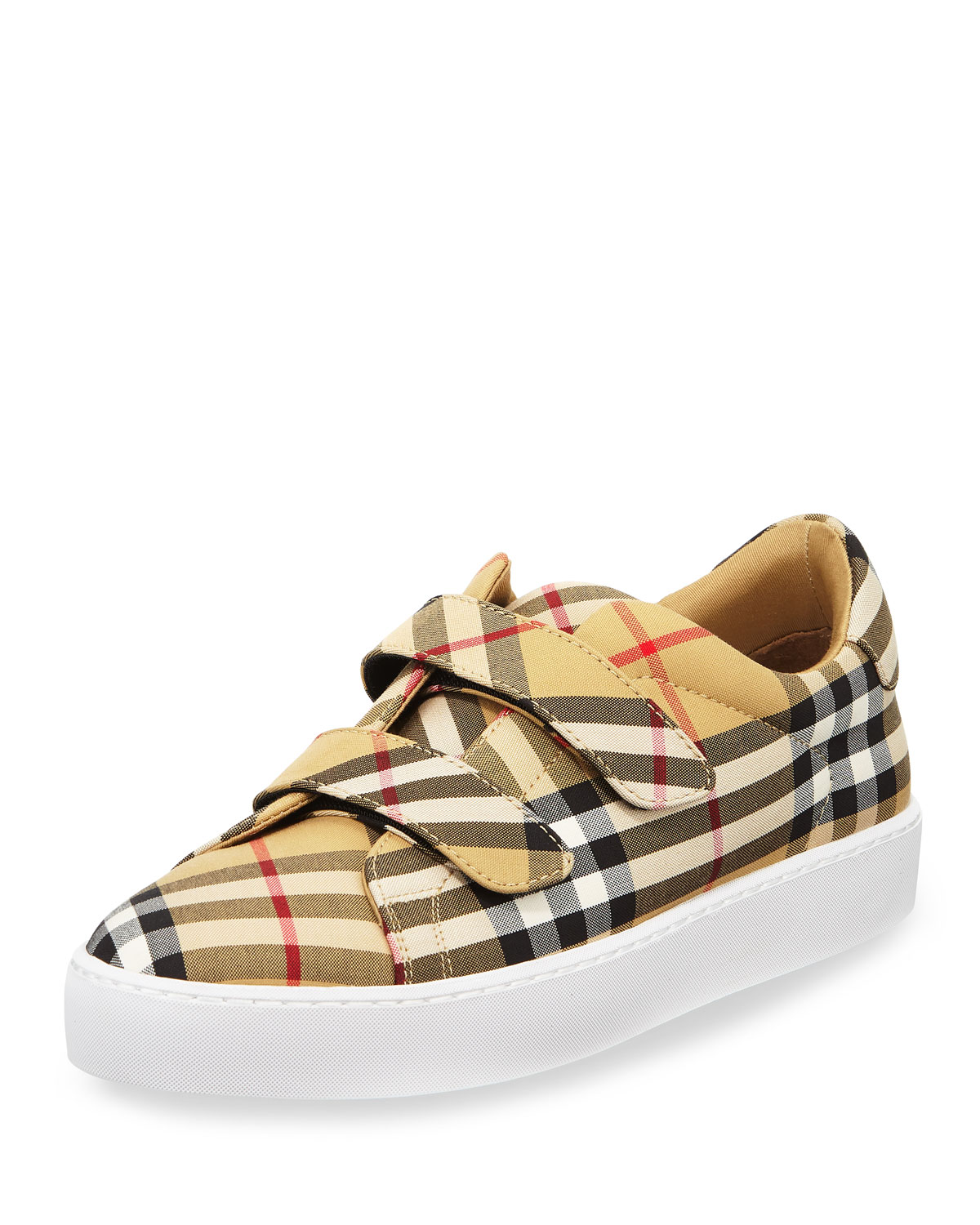 Women'S Alexandra Vintage Check Sneakers in Antique Yel