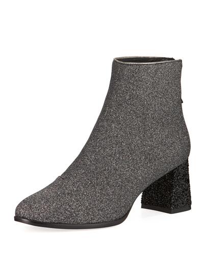 Stella Glitter Zip Booties