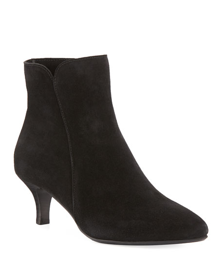 La Canadienne Dean Pointed Suede Booties