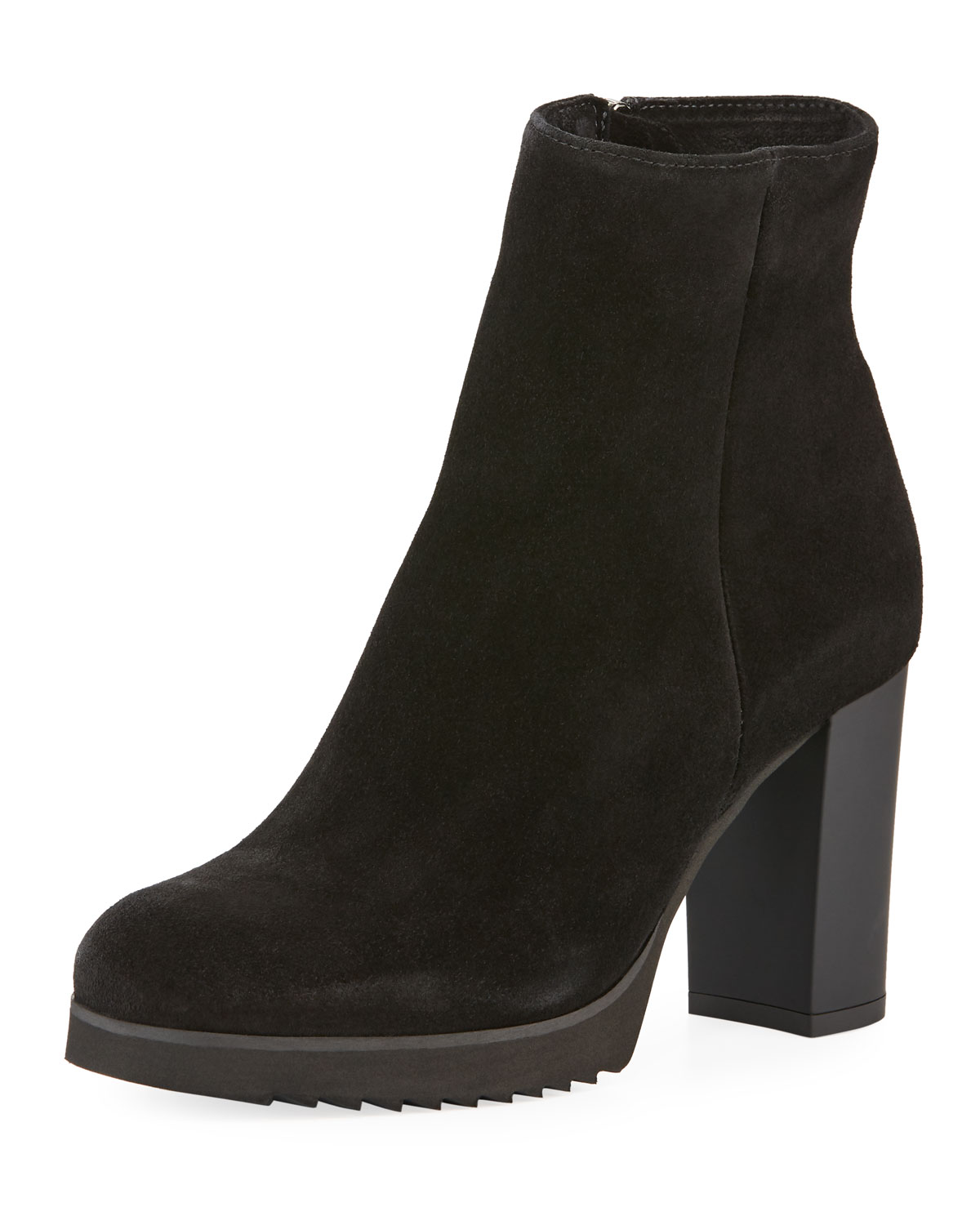 Myranda Suede Zip Booties