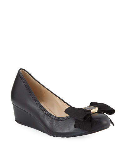 Tali Grand Soft Bow Wedge Pumps
