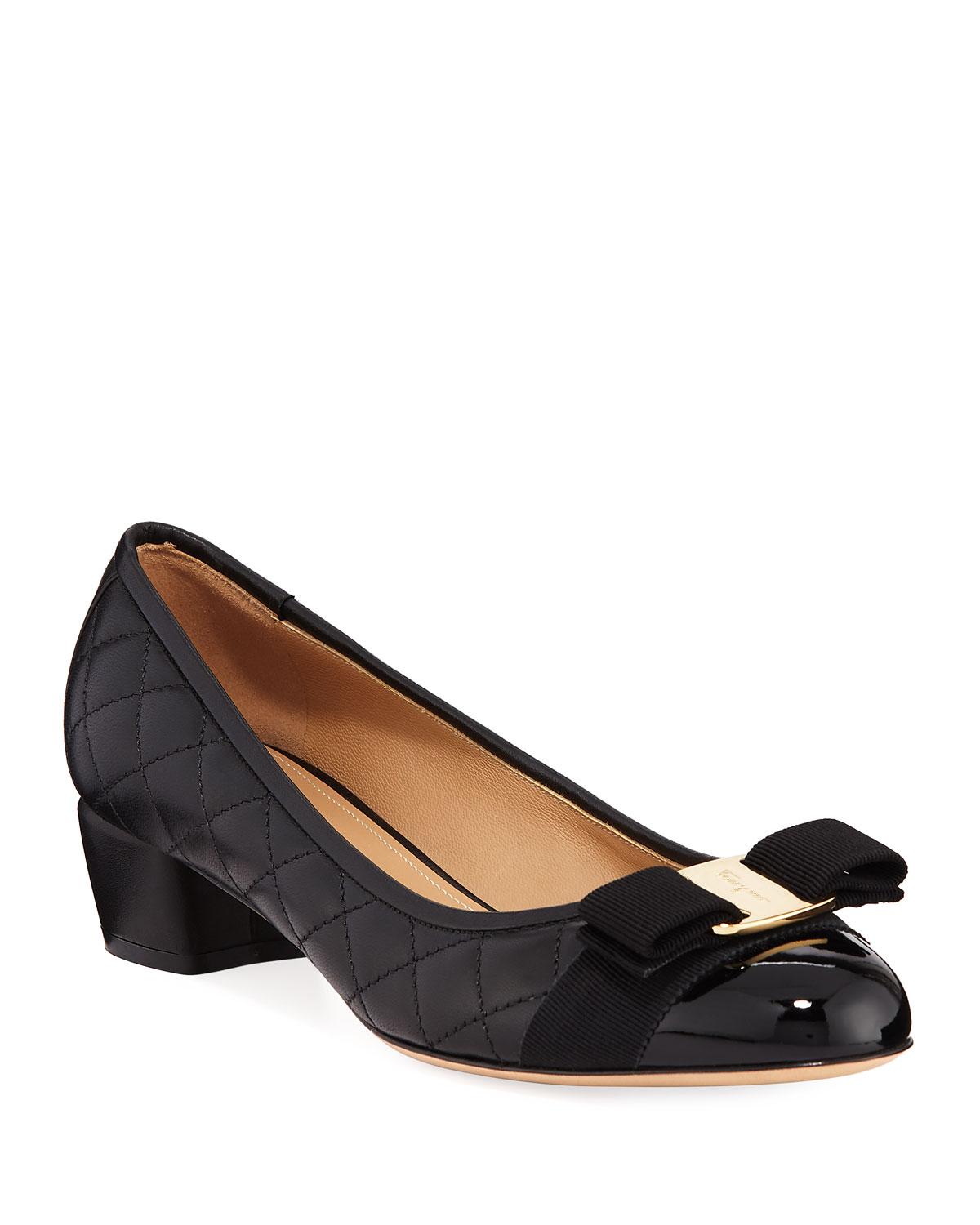 Vara Quilted Bow Ballet Pumps
