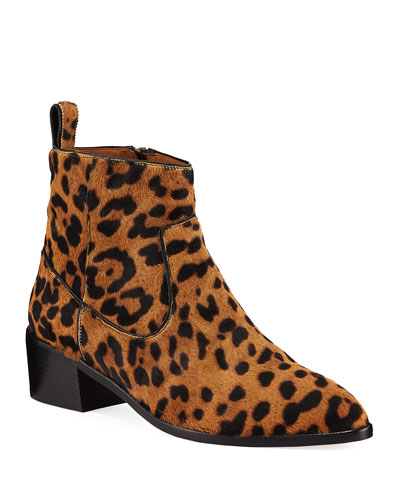 Leopard Leather Print Boot Neiman Marcus nCCpY05r