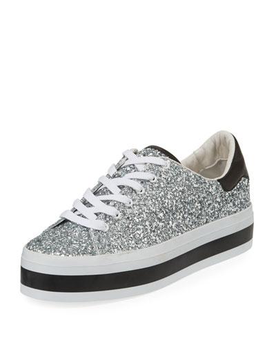 d32e779a1ca Quick Look. Alice + Olivia · Ezra Platform Glitter Low-Top Sneakers