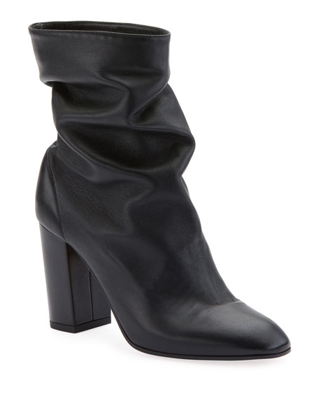 Aquazzura Boogie Scrunch Leather Booties