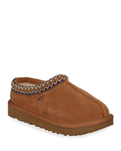Tasman Suede Fur-Lined Slippers