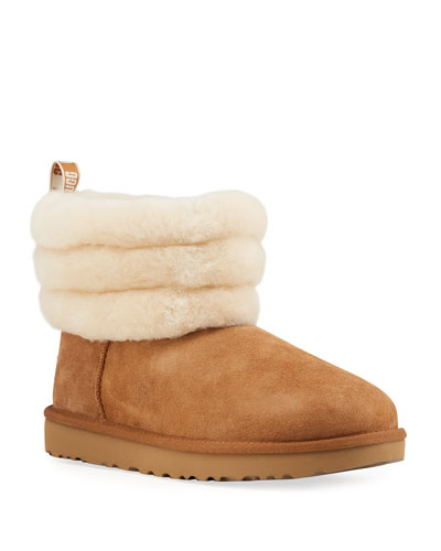 Fluff Mini Quilted Short Boots