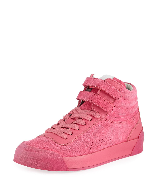 Nova Mixed Leather Platform Sneakers