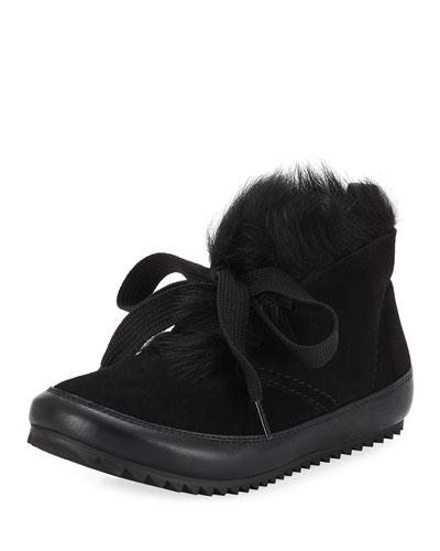 Jain Lace-Up Fur Sneakers