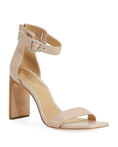 Ellis Leather Ankle-Wrap Sandal