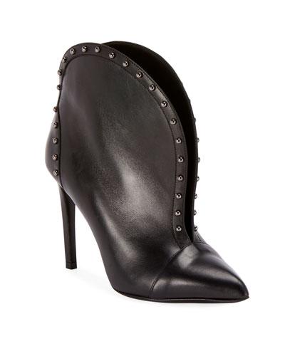 246cc4f780da Quick Look. Balmain · Iren Calfskin Split-Front Ankle Boot