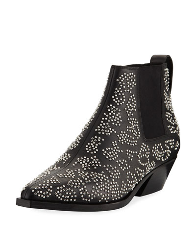 Westin Leopard-Studded Chelsea Booties